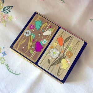 Vintage 1960's playing cards, original case